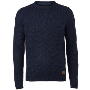Threadbare Men's Sedley Crew Neck Jumper - Navy Twist