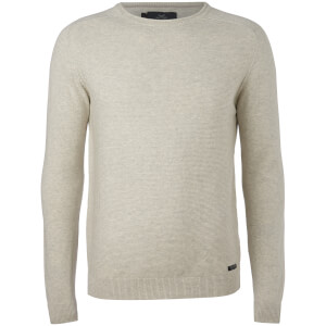 Threadbare Men's Bruce Textured Raglan Jumper - Birch Marl