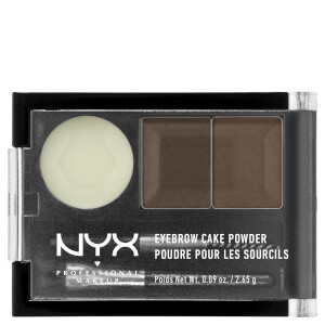 NYX Professional Makeup Eyebrow Cake Powder - Dark Brown/ Brown: Image 2