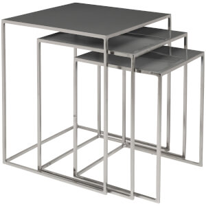 Broste Copenhagen Freja Set of Tables - Steel/Rockbridge