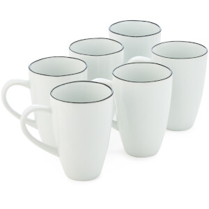 Broste Copenhagen Salt Mug - White (Set of 6)