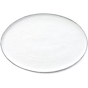 Broste Copenhagen Salt Serving Plate - White