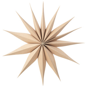 Broste Copenhagen Wooden Star Decoration Venok Medium - Natural