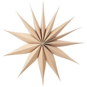 Broste Copenhagen Wooden Star Decoration Venok Medium - Natural