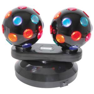 QTX Free Standing Dual Rotating Disco Balls