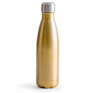 Sagaform Steel Hot and Cold Bottle - Gold (50cl)