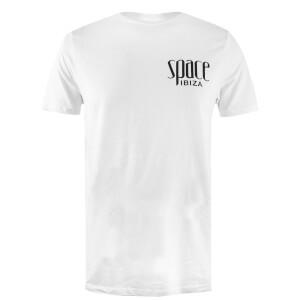 Space Ibiza Men's Mono Logo Step Hem T-Shirt - White