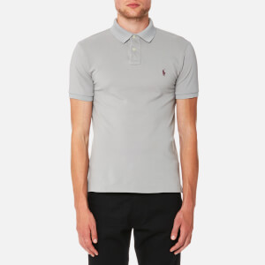 Polo Ralph Lauren Men's Weathered Mesh Short Sleeve Polo Shirt - Soft Grey