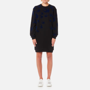 McQ Alexander McQueen Women's Classic Swallow Sweat Dress - Black/Carbon Navy