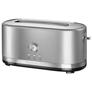 KitchenAid 5KMT4116BCU Manual Control 4 Slice Toaster - Contour Silver