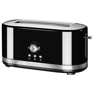 KitchenAid 5KMT4116BOB Manual Control 4 Slice Toaster - Onyx Black