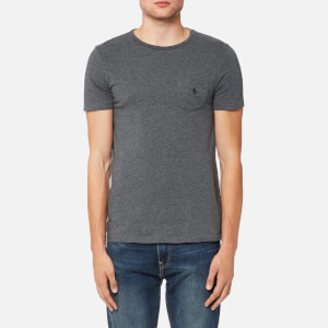 Polo Ralph Lauren Men's Crew Neck Pocket T-Shirt - Stadium Grey Heather