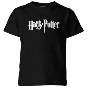 Harry Potter Logo Kinder T-Shirt - Schwarz