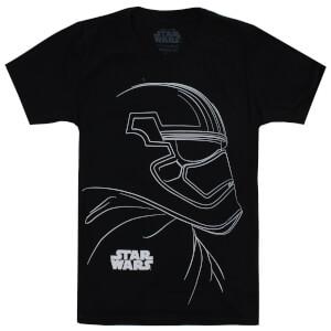 T-Shirt Enfant Star Wars Trooper Outline Les Derniers Jedi - Noir