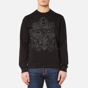 Versace Jeans Men's Embroidered Tiger Logo Sweatshirt - Nero