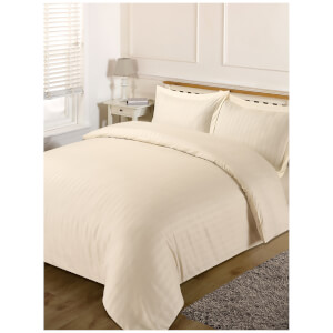 Brentfords Satin Stripe Duvet Set - Cream