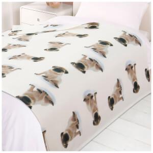 Dreamscene Dogs Soft Fleece Throw (120 x 150cm)