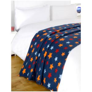 Dreamscene Star Soft Fleece Throw (120 x 150cm)