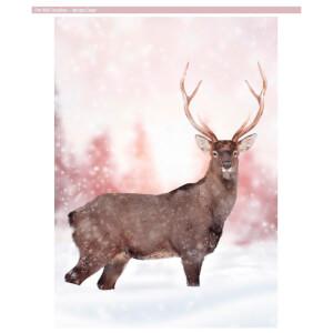 Dreamscene Winter Deer Faux Fur Throw (150 x 200cm)