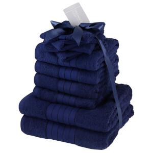 Highams 100% Cotton 10 Piece Towel Bale (500GSM) - Navy