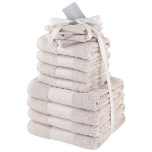 Highams 100% Cotton 12 Piece Towel Bale (500GSM) - Natural