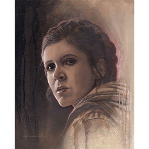 Star Wars Timeless Series: Print #2 - Leia by Acme Archive's Artist Jerry Vanderstelt - Zavvi Exclusive (Timed Sale)