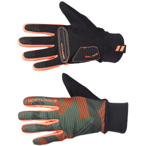 Northwave Power 2 Gel Winter Gloves - Camon/Forest/Orange