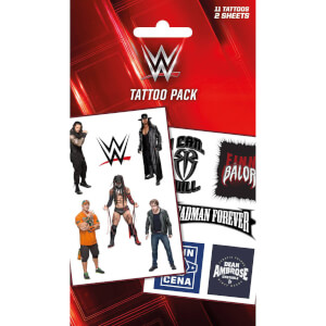WWE Logos And Superstars Temporary Tattoo Pack
