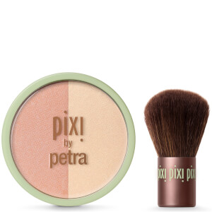 PIXI Beauty Blush Duo + Kabuki Brush - Peach Honey