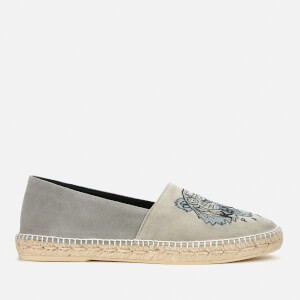 KENZO Men's Classic Suede Tiger Espadrilles - Pearl Grey