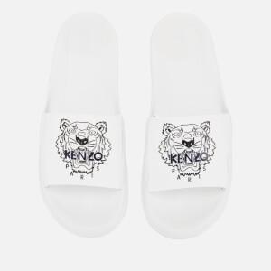 KENZO Men's Pool Slide Sandals - White
