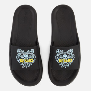 KENZO Women's Tiger Logo Slide Sandals - Black