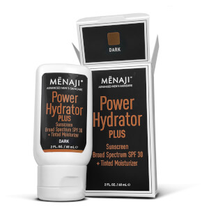 Menaji Power Hydrator PLUS Broad Spectrum Sunscreen SPF30 + Tinted Moisturiser - Dark 30ml