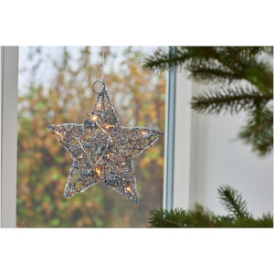 Sirius Siv Hanging Star Decoration