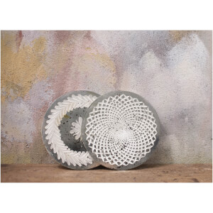 Nkuku Avani Etched Placemat - Antique Silver - Spiral: Image 2