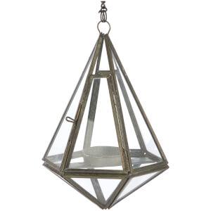 Nkuku Mokomo Hanging Lantern - Antique Zinc