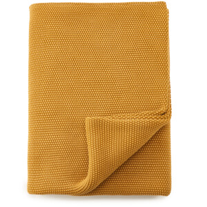 Nkuku Makani Cotton Throw - Washed Mustard