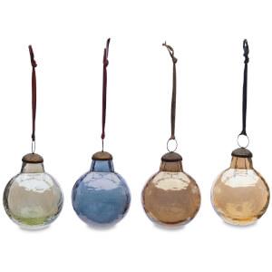 Nkuku Alura Round Bauble - Multi Colours (Set of 4) - Large