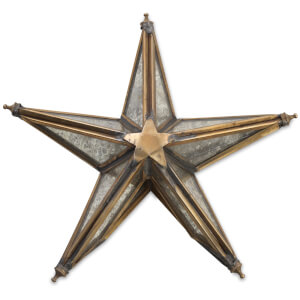 Nkuku Bakara Star Tree Topper - Antique Brass