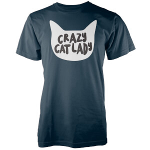 T-Shirt Homme Crazy Cat Lady - Bleu Marine