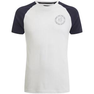 T-Shirt Homme Everest Raglan Brave Soul - Blanc / Bleu Marine