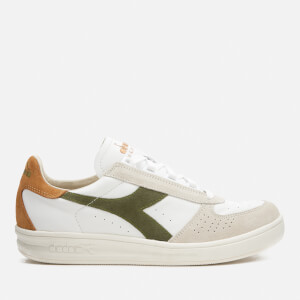 Diadora Heritage Men's B.Elite S L Grain Leather Trainers - Green Toad