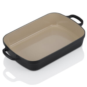 Le Creuset Cast Iron Roaster - 33cm - Satin Black