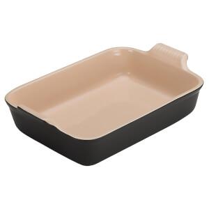Le Creuset Stoneware Deep Rectangular Dish - 19cm - Satin Black