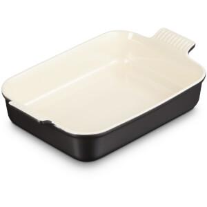 Le Creuset Stoneware Large Heritage Rectangular Roasting Dish - 32cm - Satin Black