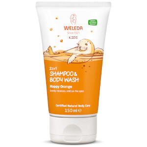 Weleda Kids 2 in 1 Wash 150ml -pesuaine hiuksille ja vartalolle, Happy Orange