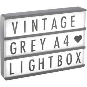 A4 Premium Wood Cinematic Lightbox - Vintage Grey
