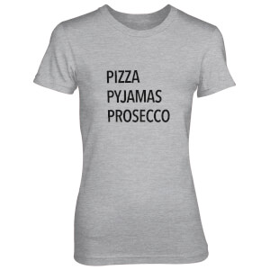 Pizza Pyjamas Prosecco Women's Grey T-Shirt