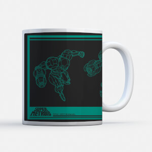 "Taza Navidad Nintendo ""Super Metroid Power Suit Instructional"""