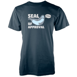 T-Shirt Homme/Femme Seal Of Approval - Bleu Marine